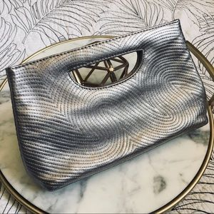 The Limited • Swirl Embroidered Clutch